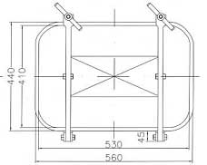B2e Access Door top dimensions