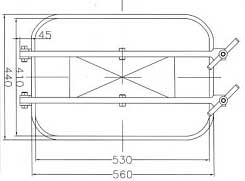 B6e Access Door top dimensions